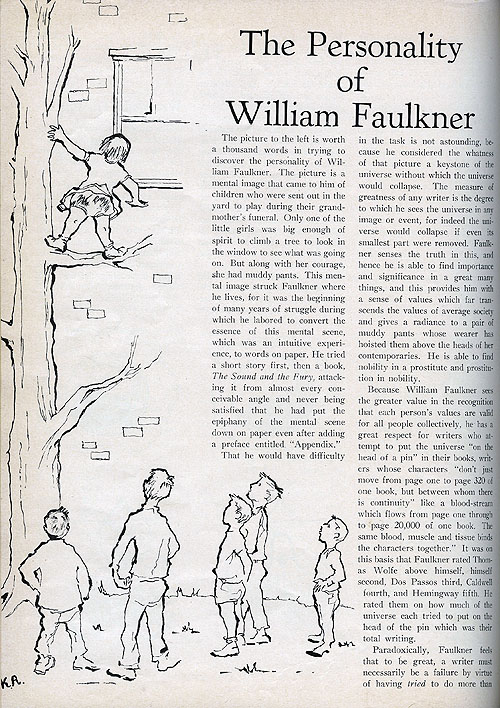 william faulkners dilsey section essay William faulkner american literature analysis - essay william faulkner american literature sometimes called the dilsey section in spite of its third-person.
