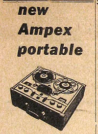 AMPEX REEL-TO-REEL TAPE RECORDER