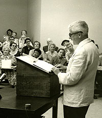 FAULKNER READING IN ROUSS HALL